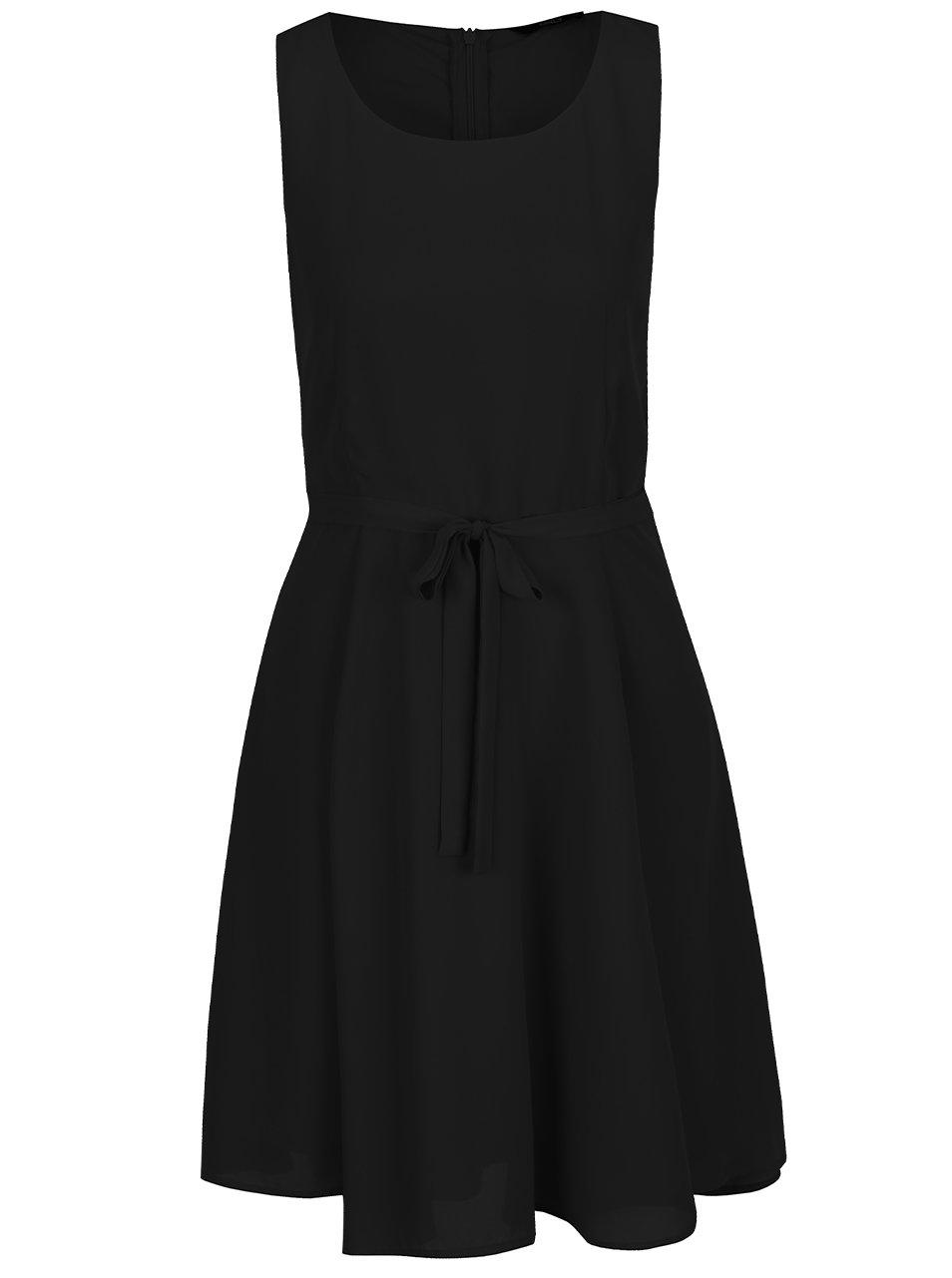 Černé šaty s páskem ONLY Kiss