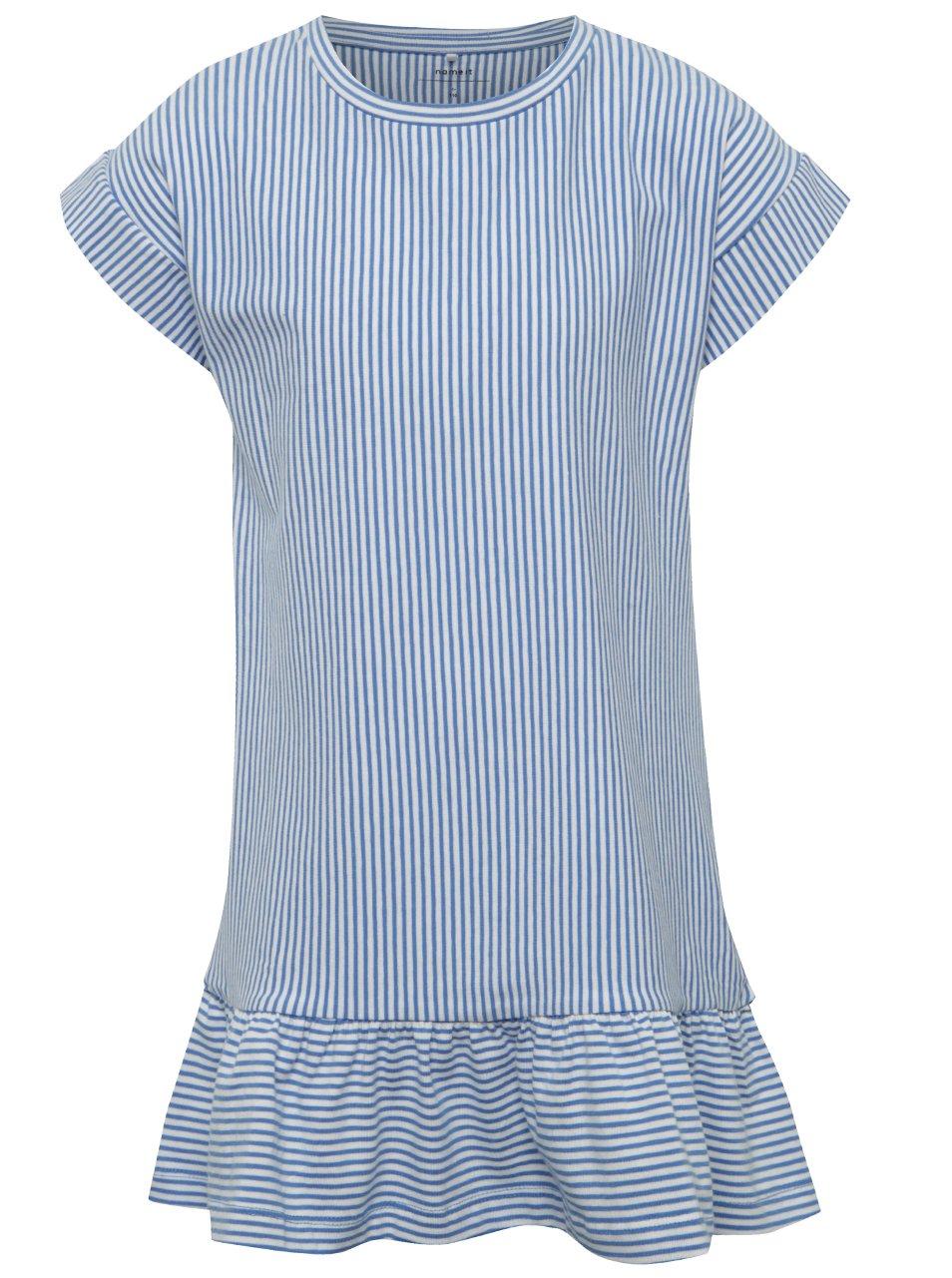 Modro-bílé holčičí šaty name it Kippi