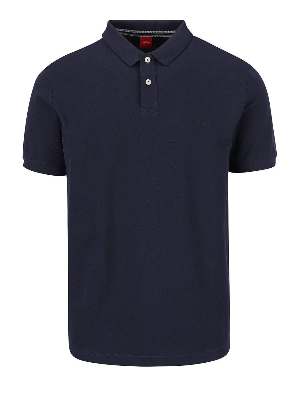 Tmavě modré pánské polo triko s.Oliver