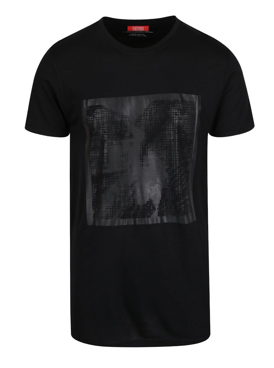 Černé pánské triko s potiskem mcm89