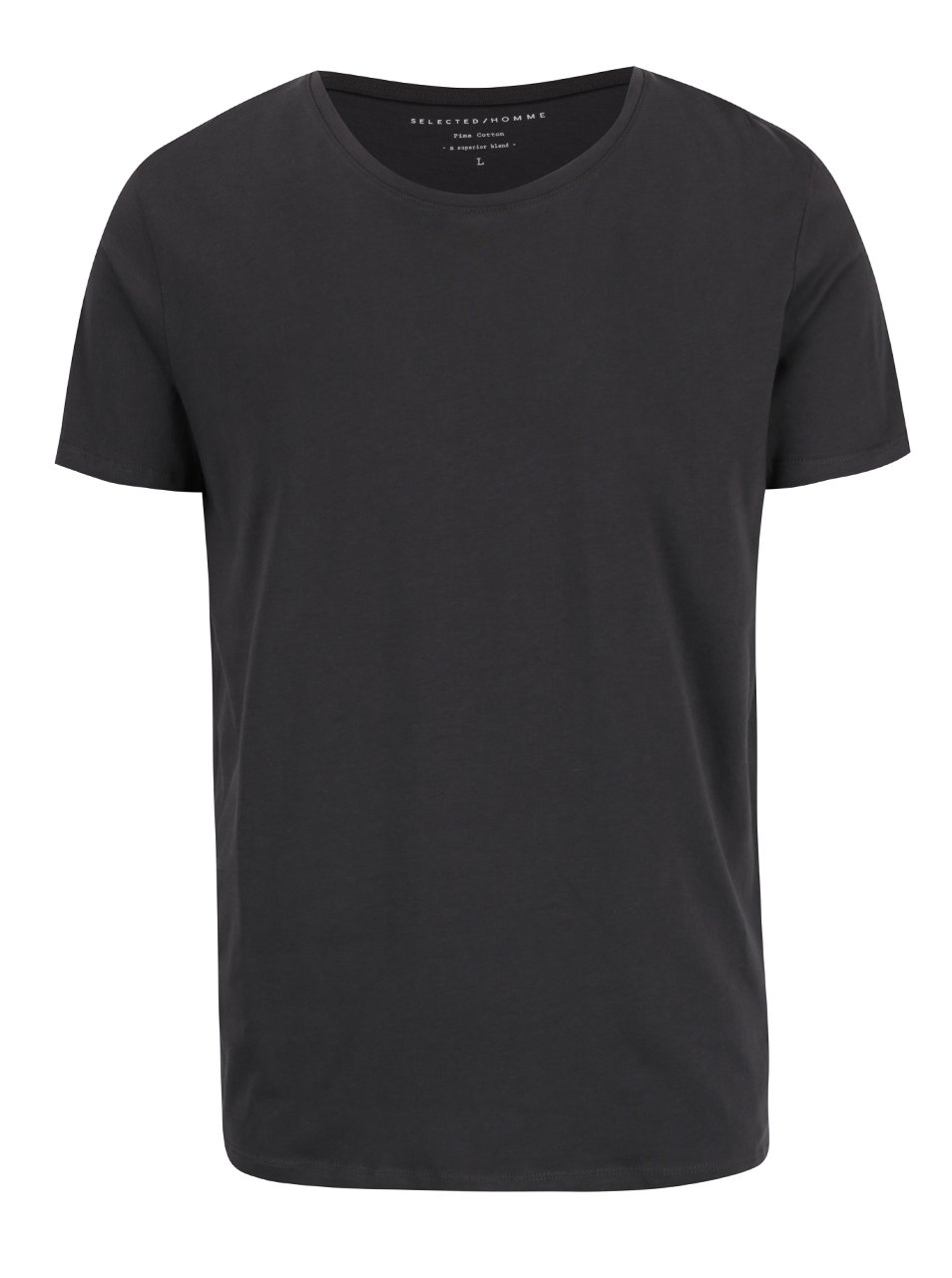 Tmavě šedé basic triko Selected Homme Pima
