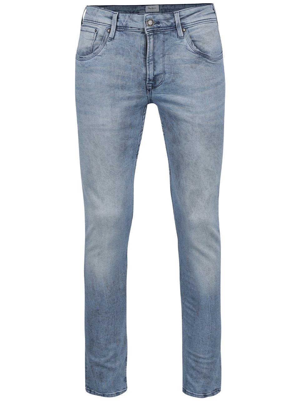 Světle modré pánské džíny Pepe Jeans Nickel