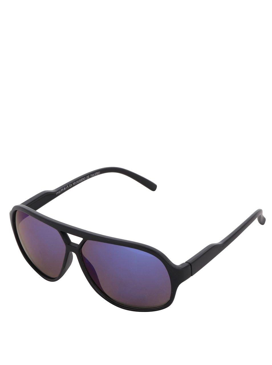 Černé klučičí sluneční brýle s modrými skly name it