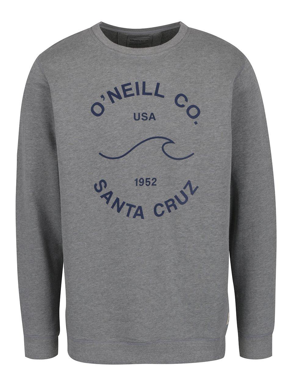 Šedá pánská mikina bez kapuce O'Neill Sunrise
