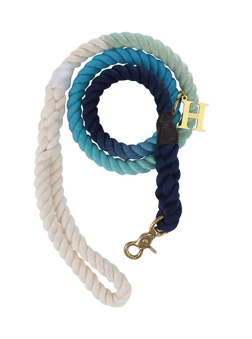 Bílo-modré vodítko pro velké psy Hound 15 mm