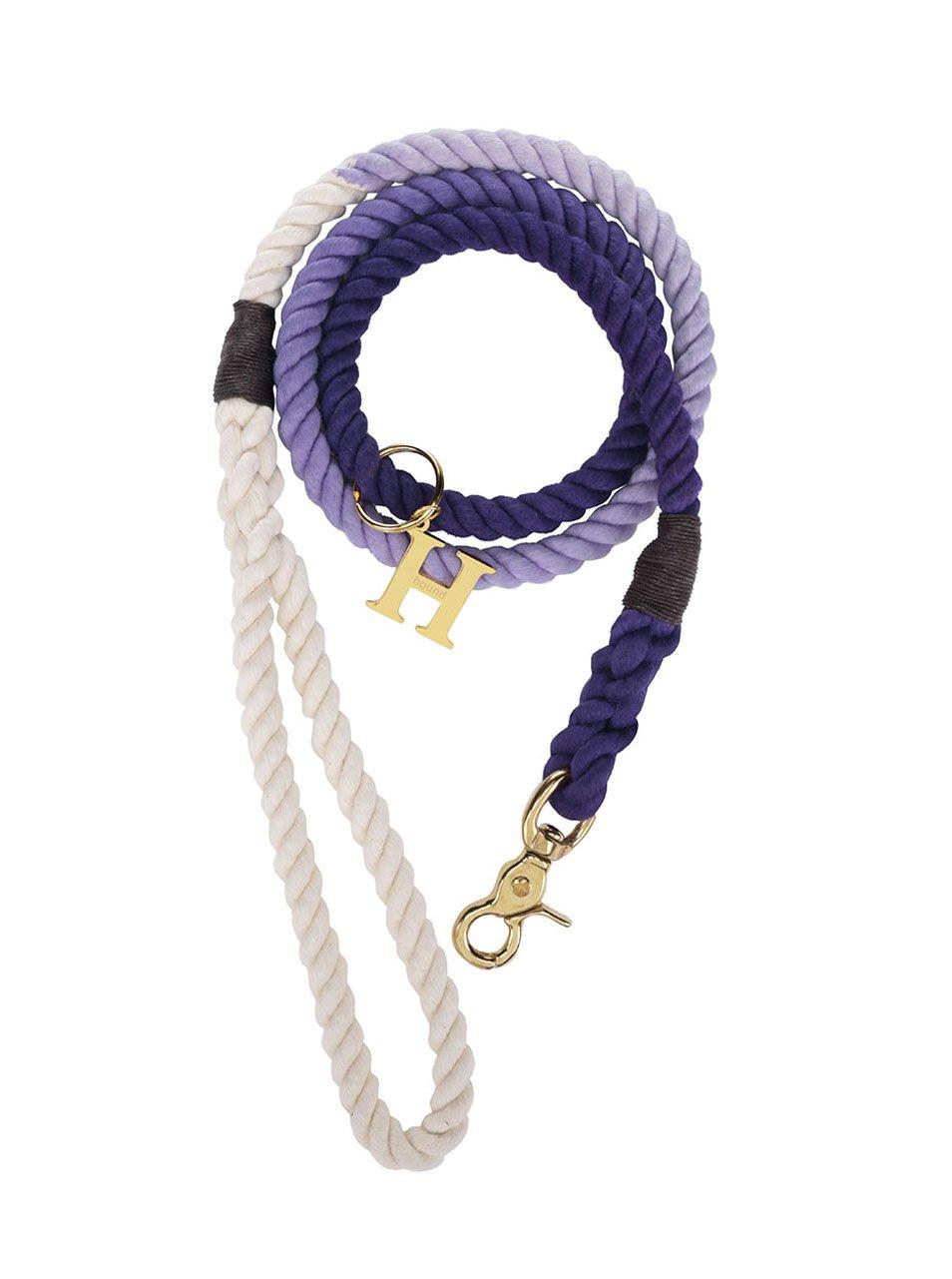Bílo-fialové vodítko pro středně velké psy Hound 12 mm