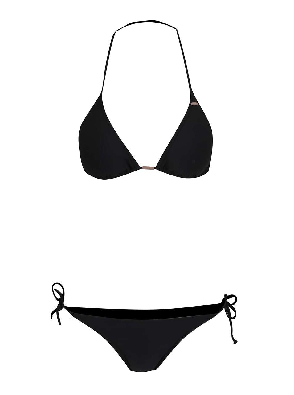 Černé dámské dvoudílné plavky se zavazováním za krkem O'Neill