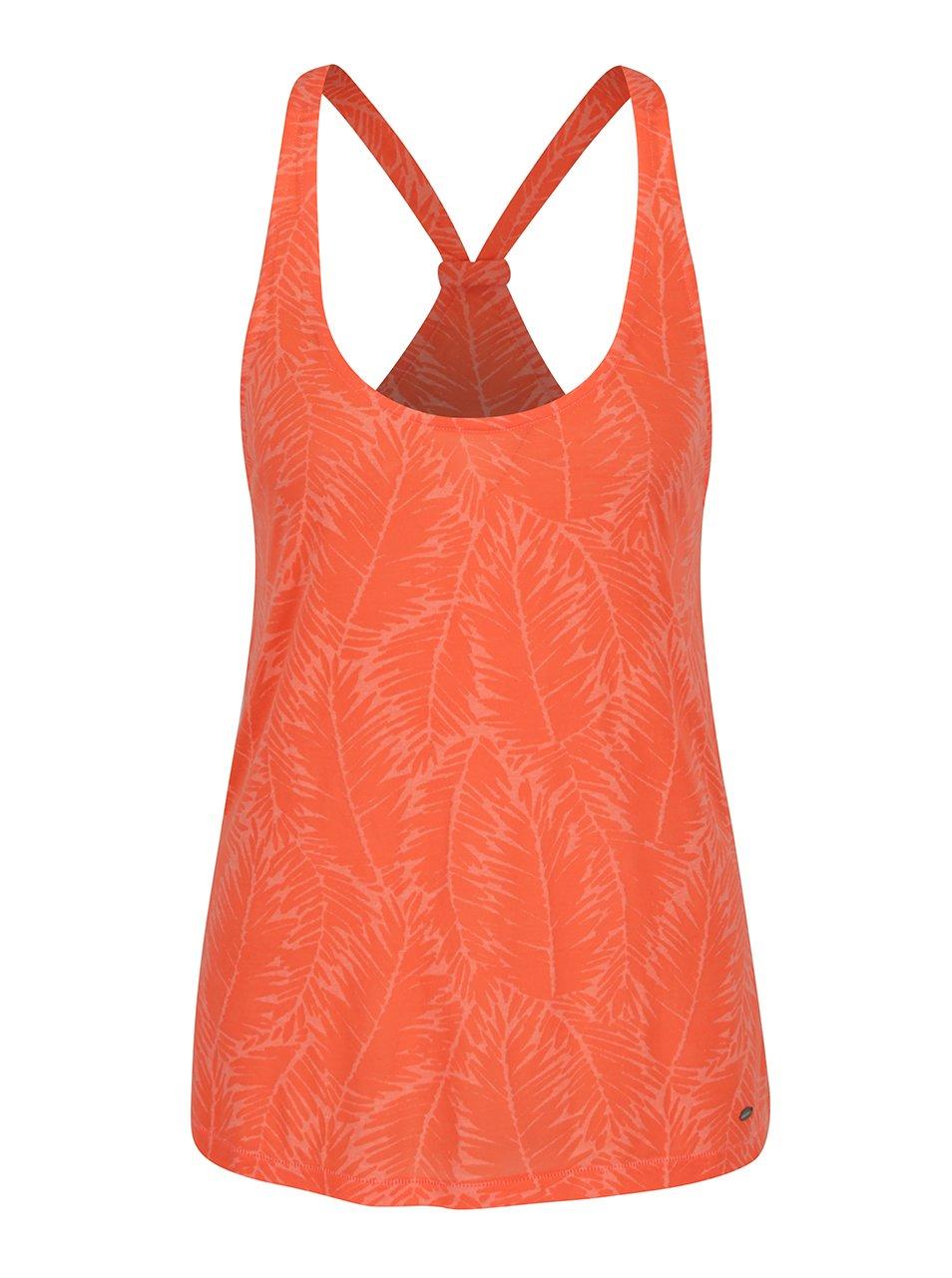 Oranžové dámské vzorované tílko O'Neill