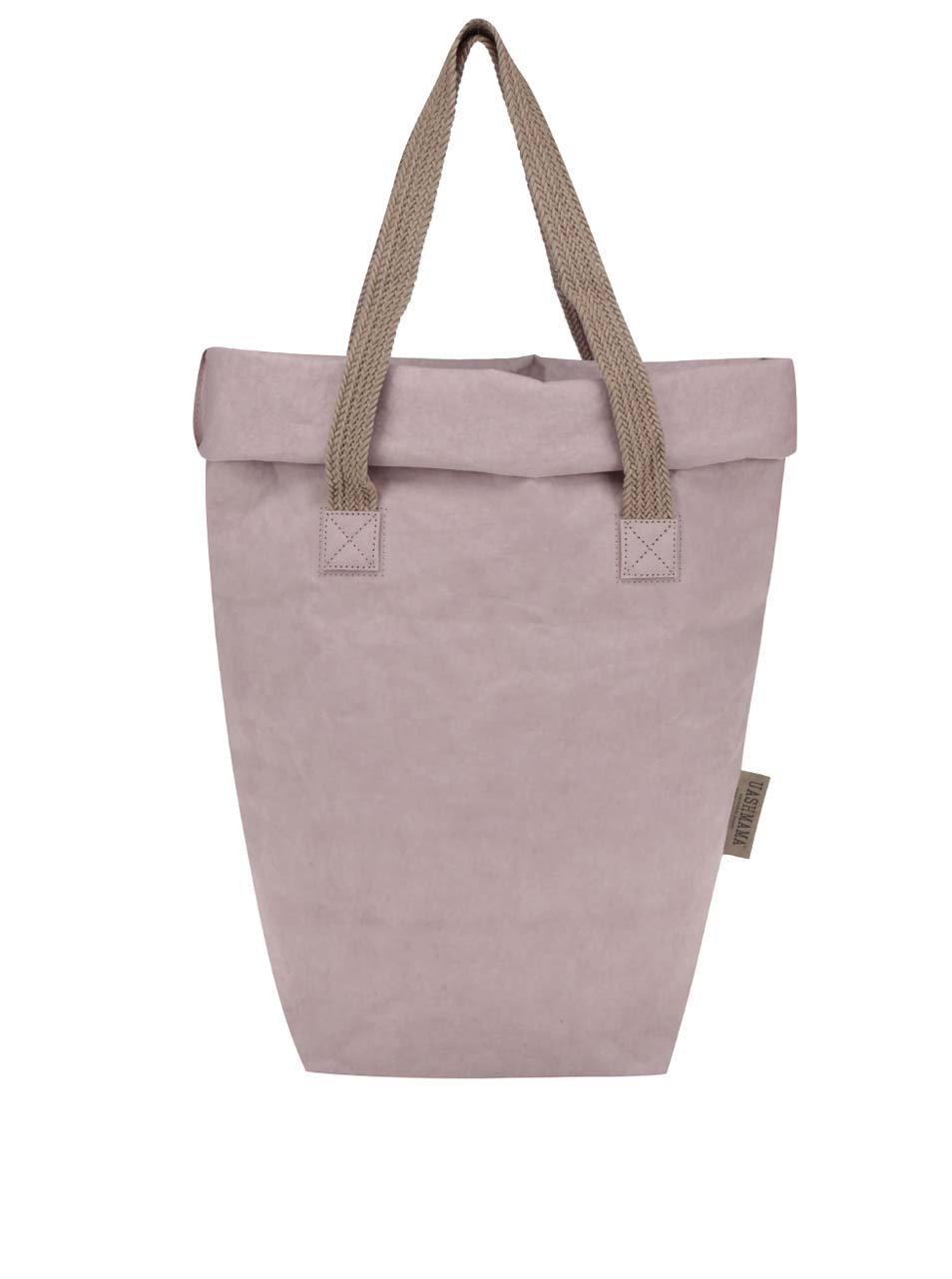 Světle růžová taška s dvěma popruhy Uashmama Carry Two