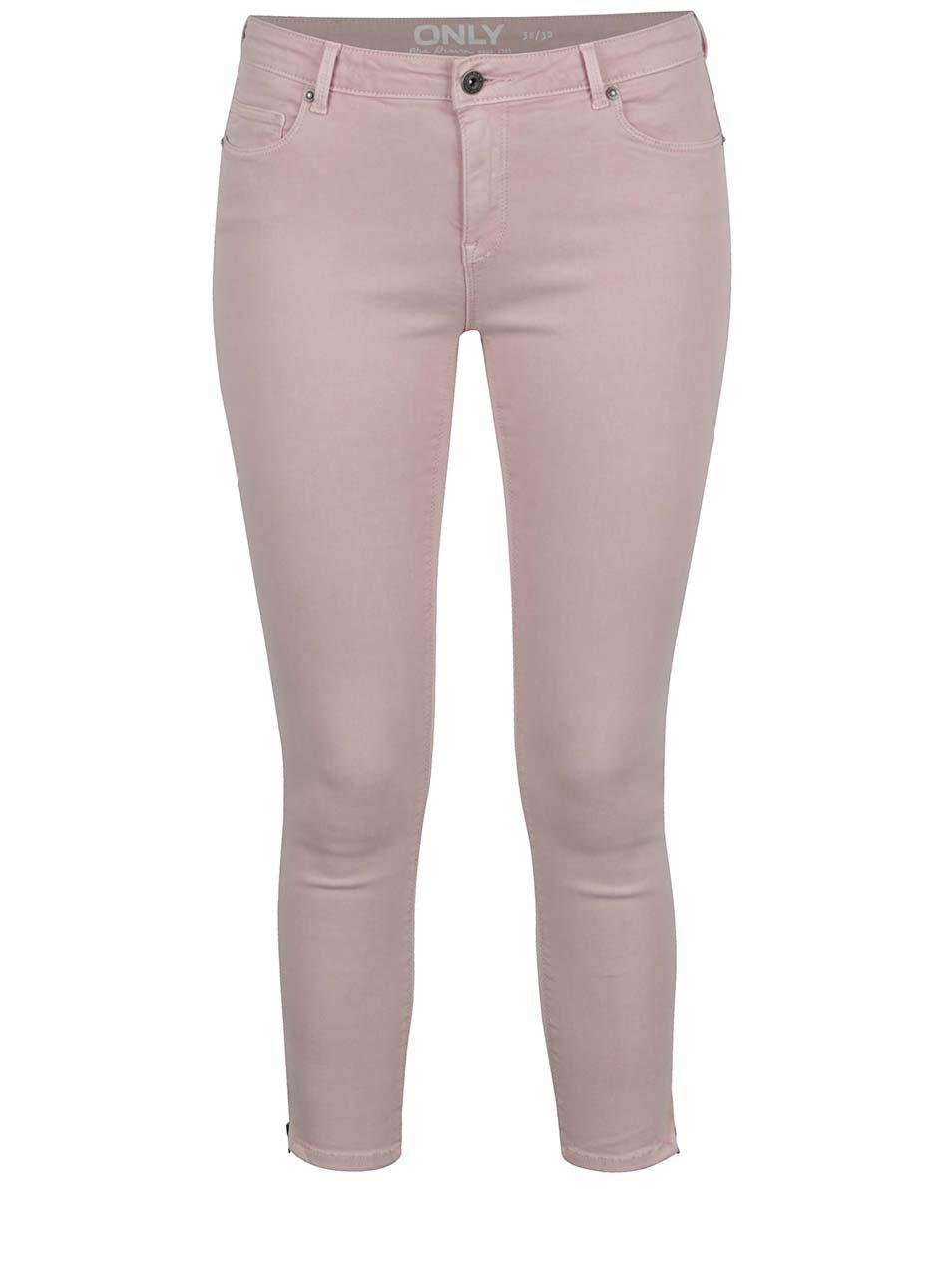 Růžové strečové džíny ONLY Serena