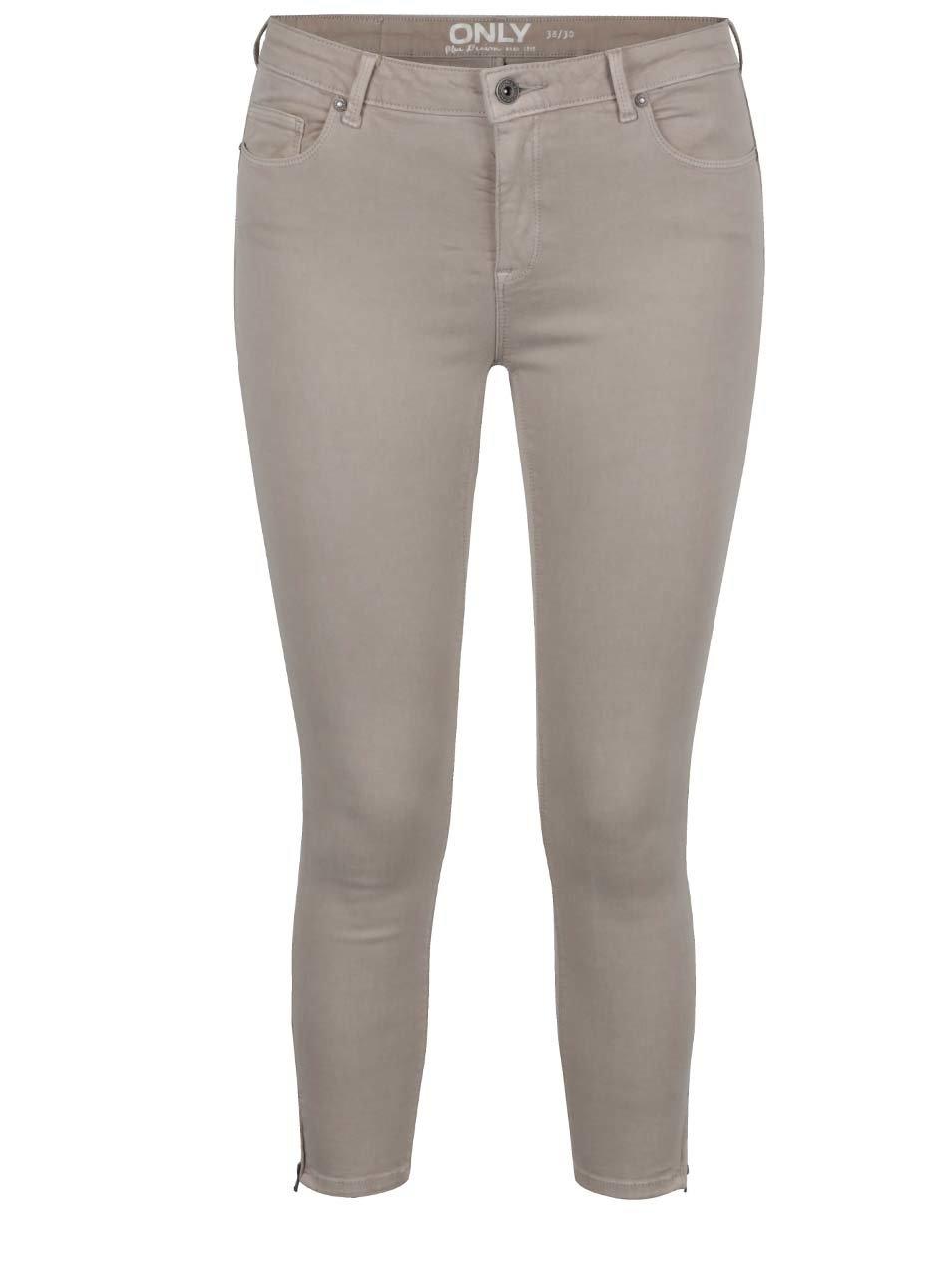 Béžové strečové džíny ONLY Serena