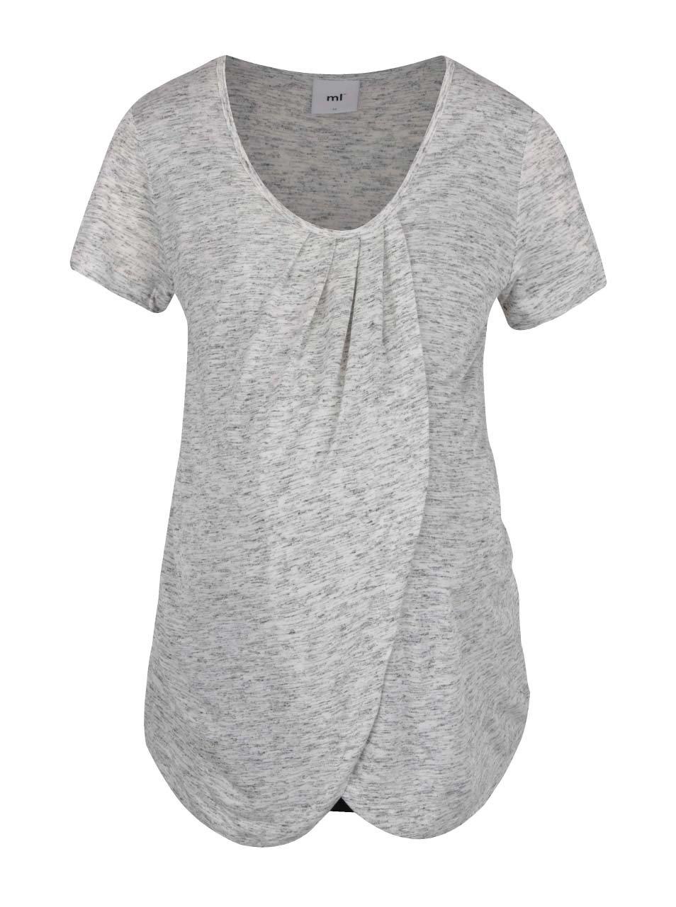 Černo-šedé dvojité těhotenské/kojicí tričko Mama.licious Tacey