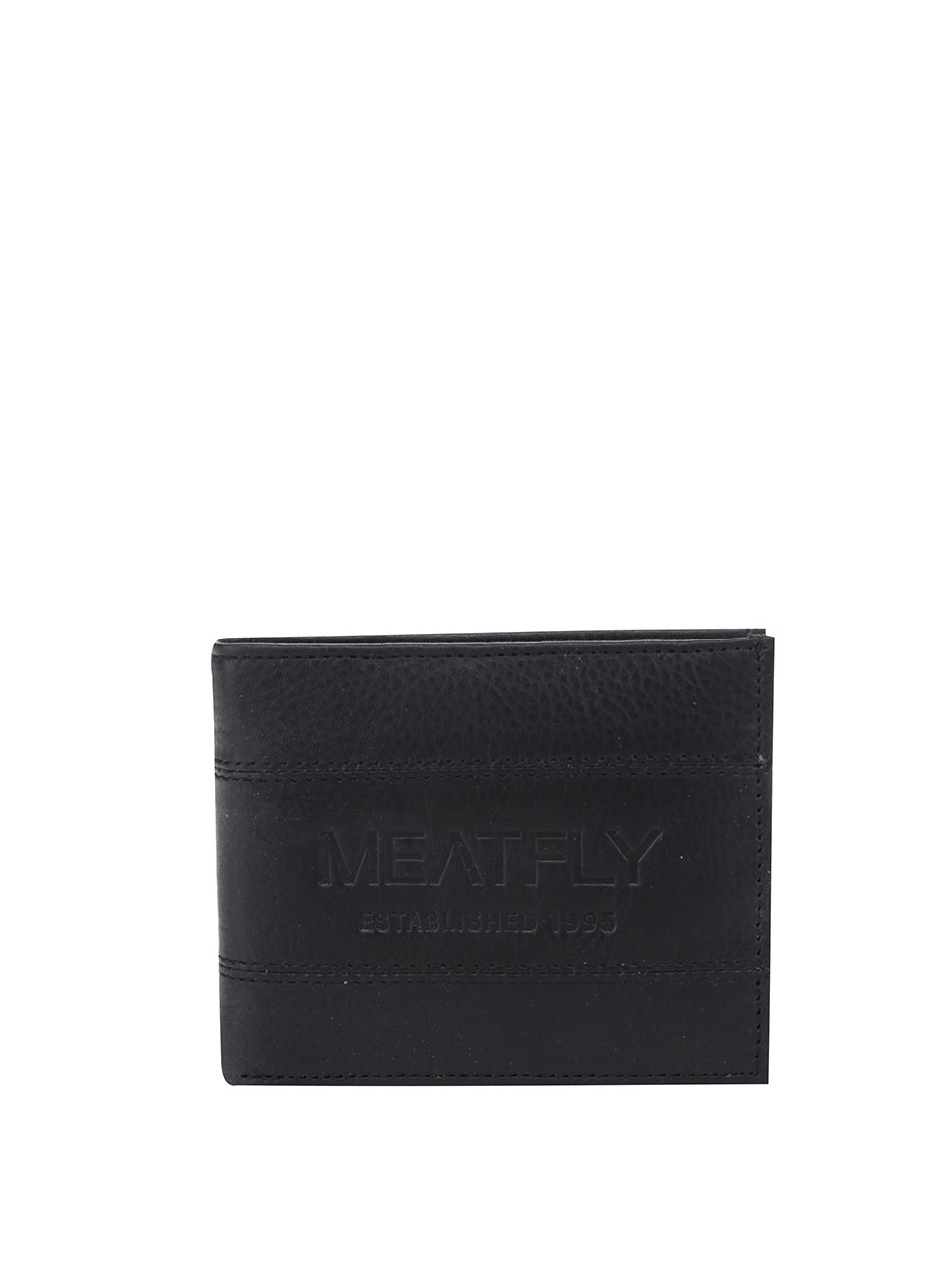 Černá pánská peněženka Meatfly Hurricane