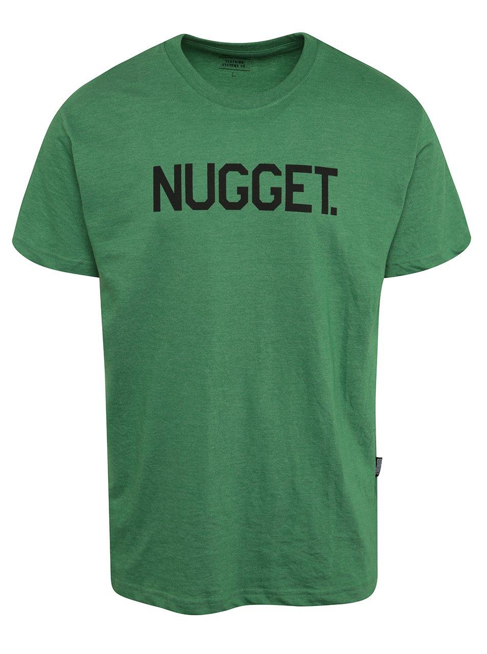 Zelené pánské triko s potiskem NUGGET Logo