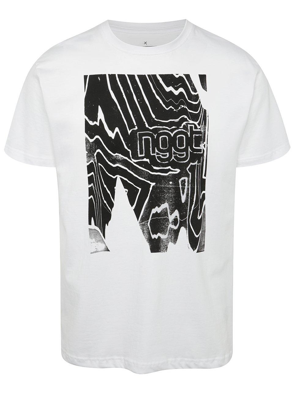 Bílé pánské triko s potiskem NUGGET Anomaly