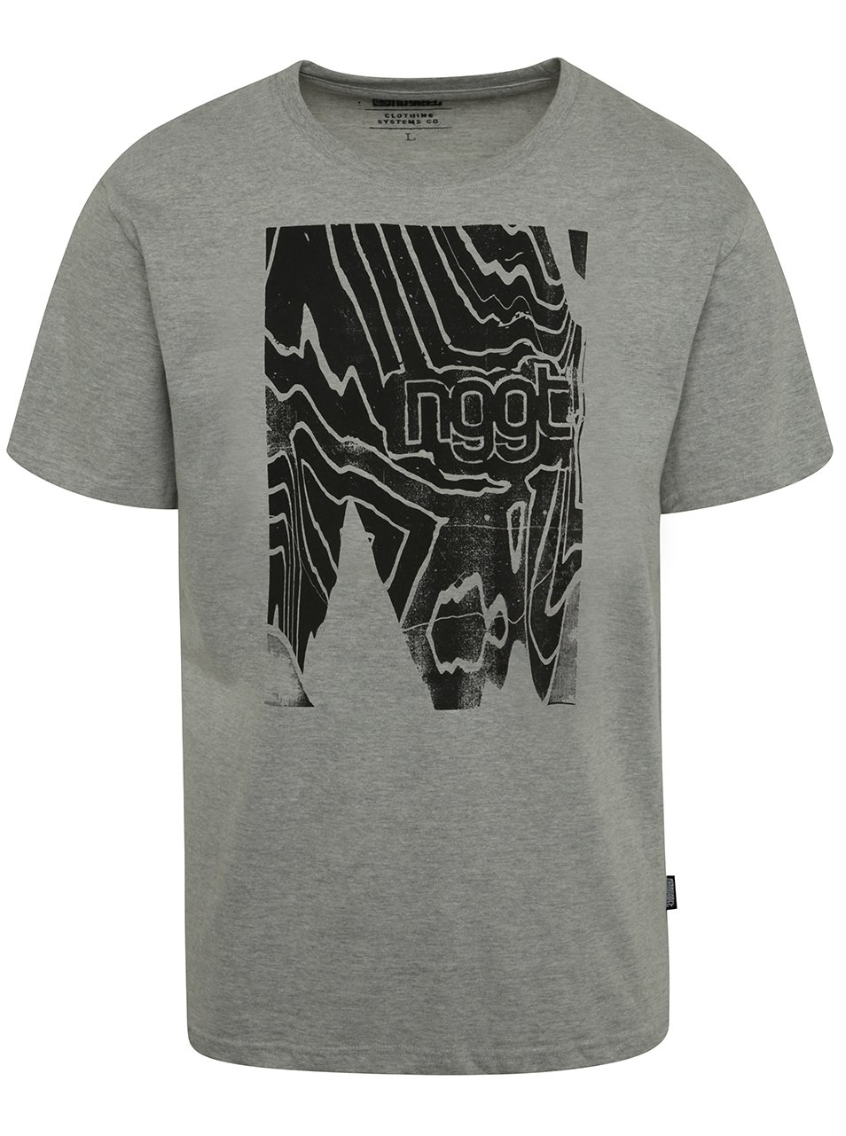 Šedé pánské triko s potiskem NUGGET Anomaly