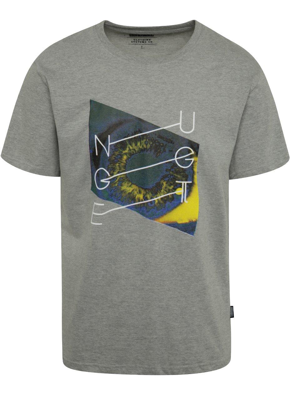 Šedé pánské triko s potiskem NUGGET Chrono