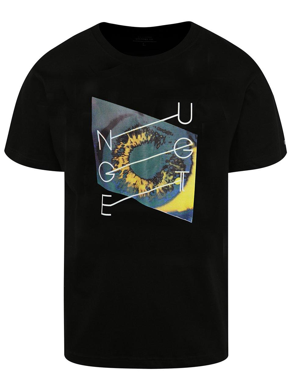 Černé pánské triko s potiskem NUGGET Chrono