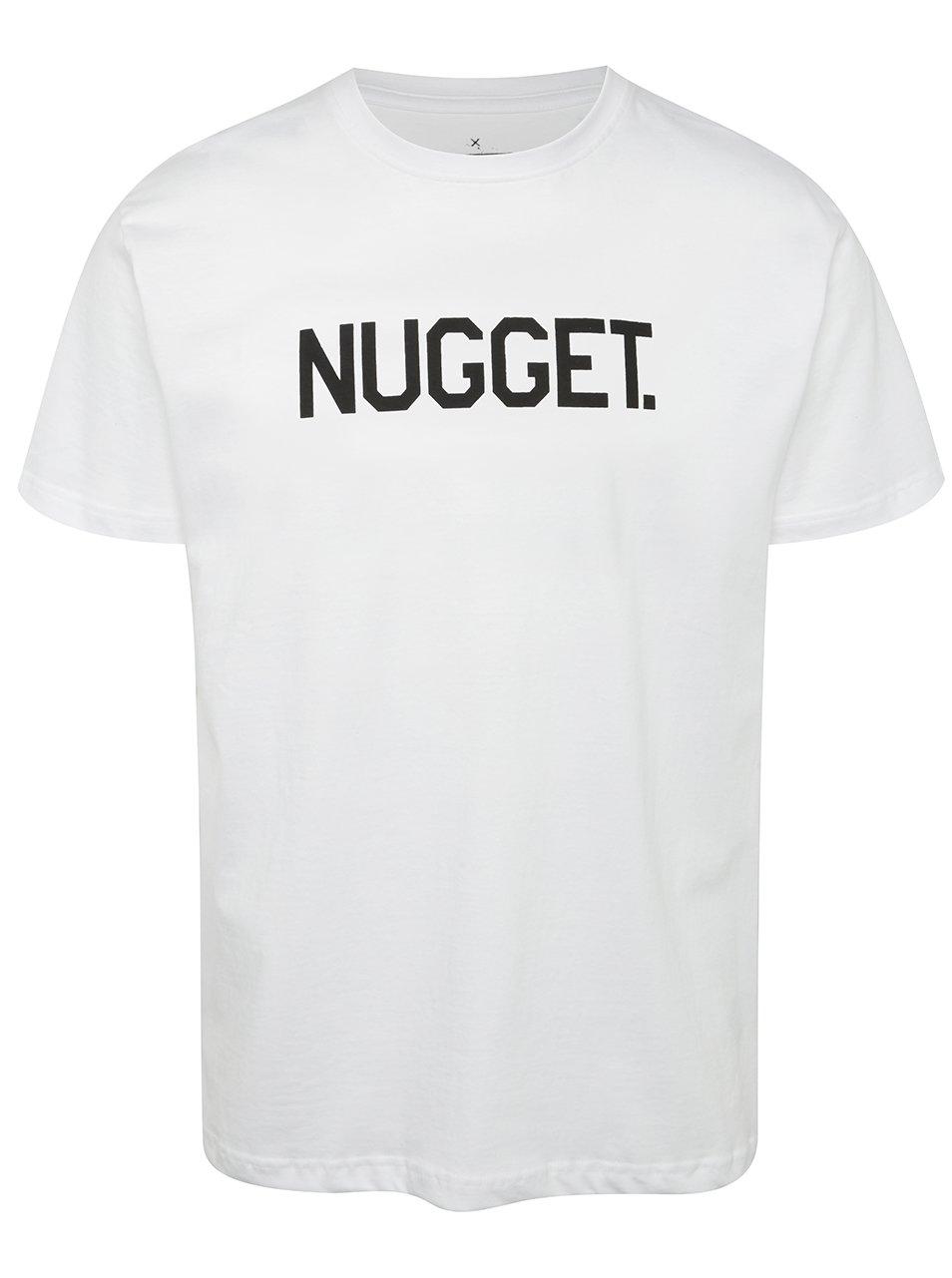 Bílé pánské triko s potiskem NUGGET Logo