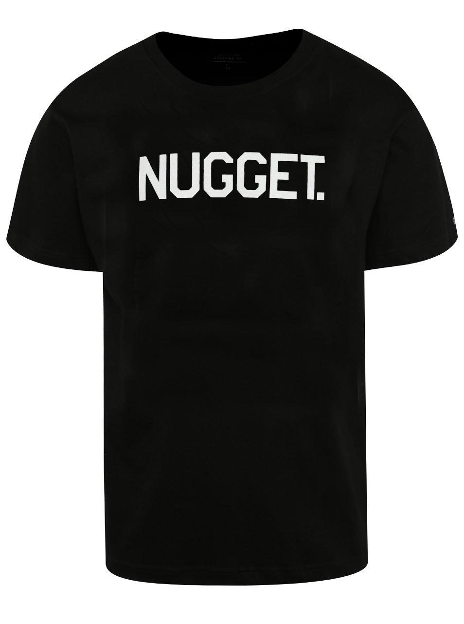 Černé pánské triko s potiskem NUGGET Logo
