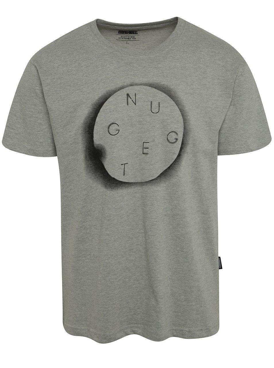 Šedé pánské triko s potiskem NUGGET Void