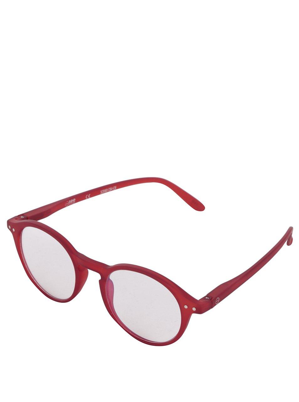 Červené unisex ochranné brýle k PC IZIPIZI #D