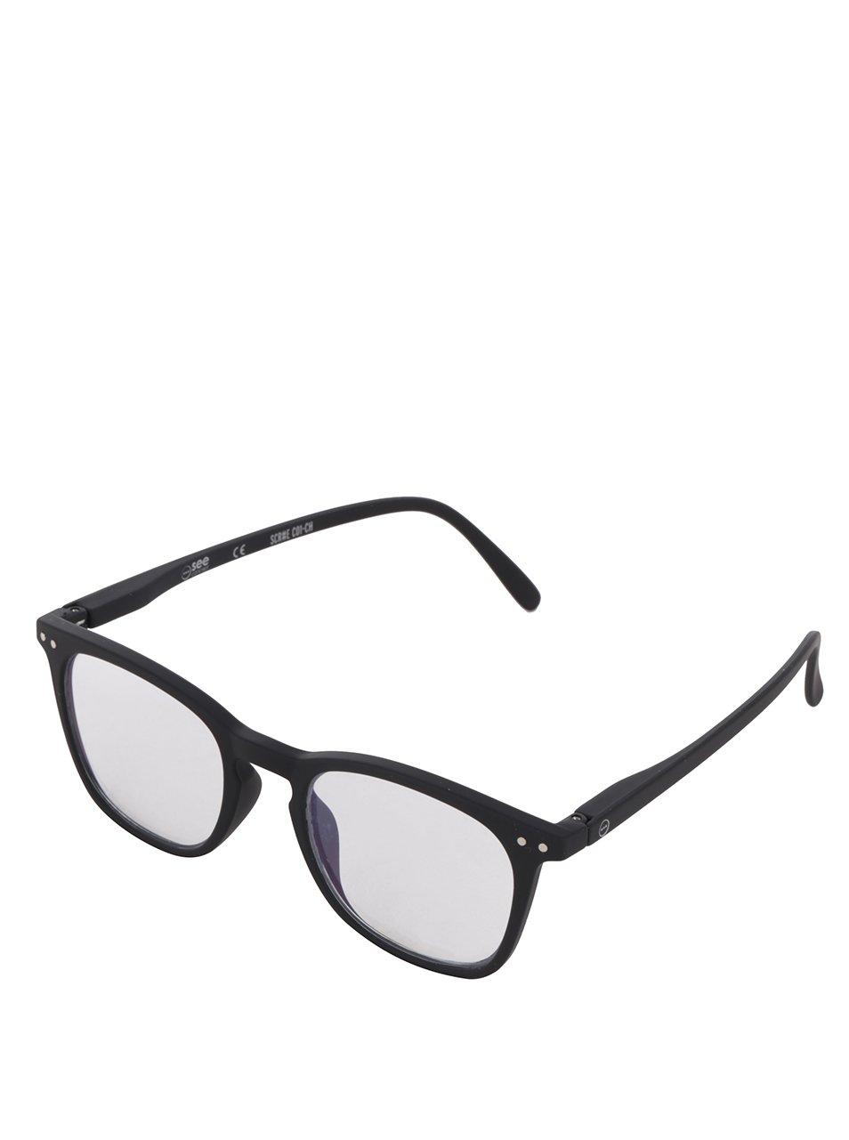 Černé unisex ochranné brýle k PC IZIPIZI #E