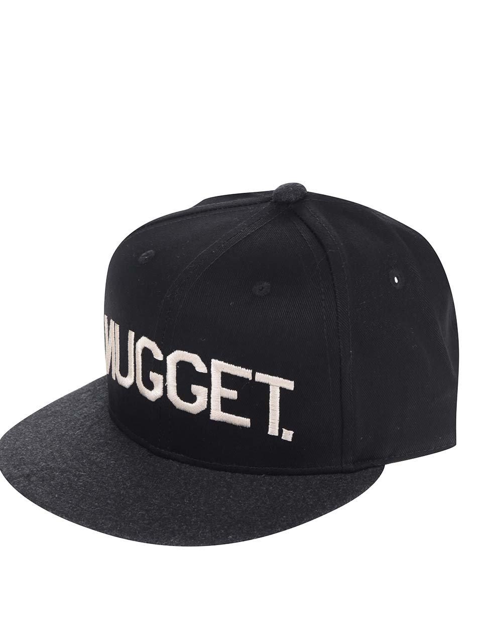 Černá pánská kšiltovka s rovným kšiltem NUGGET Grain