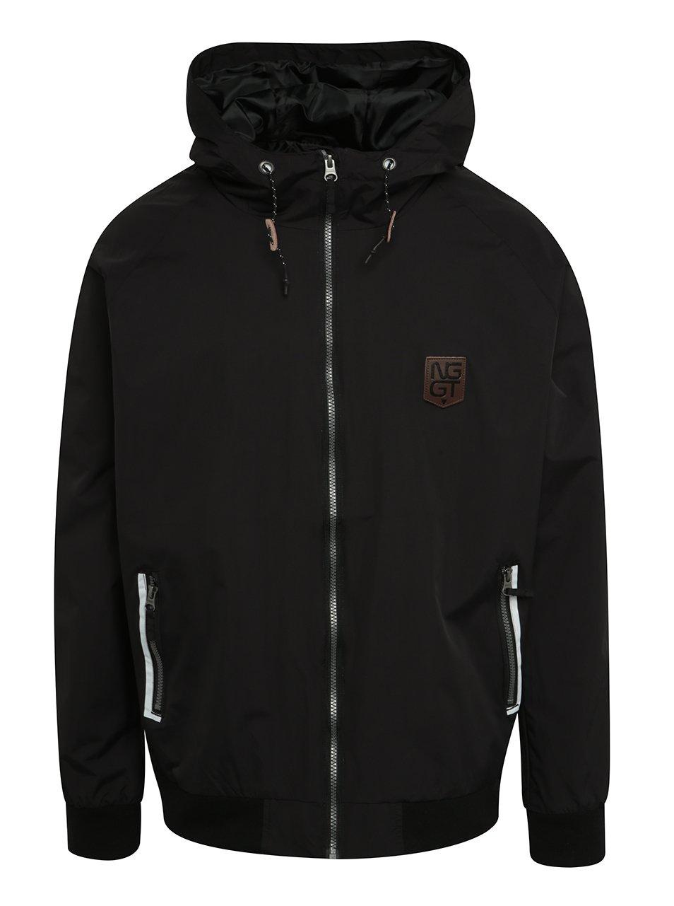 Černá pánská lehká bunda s kapucí NUGGET Deploy