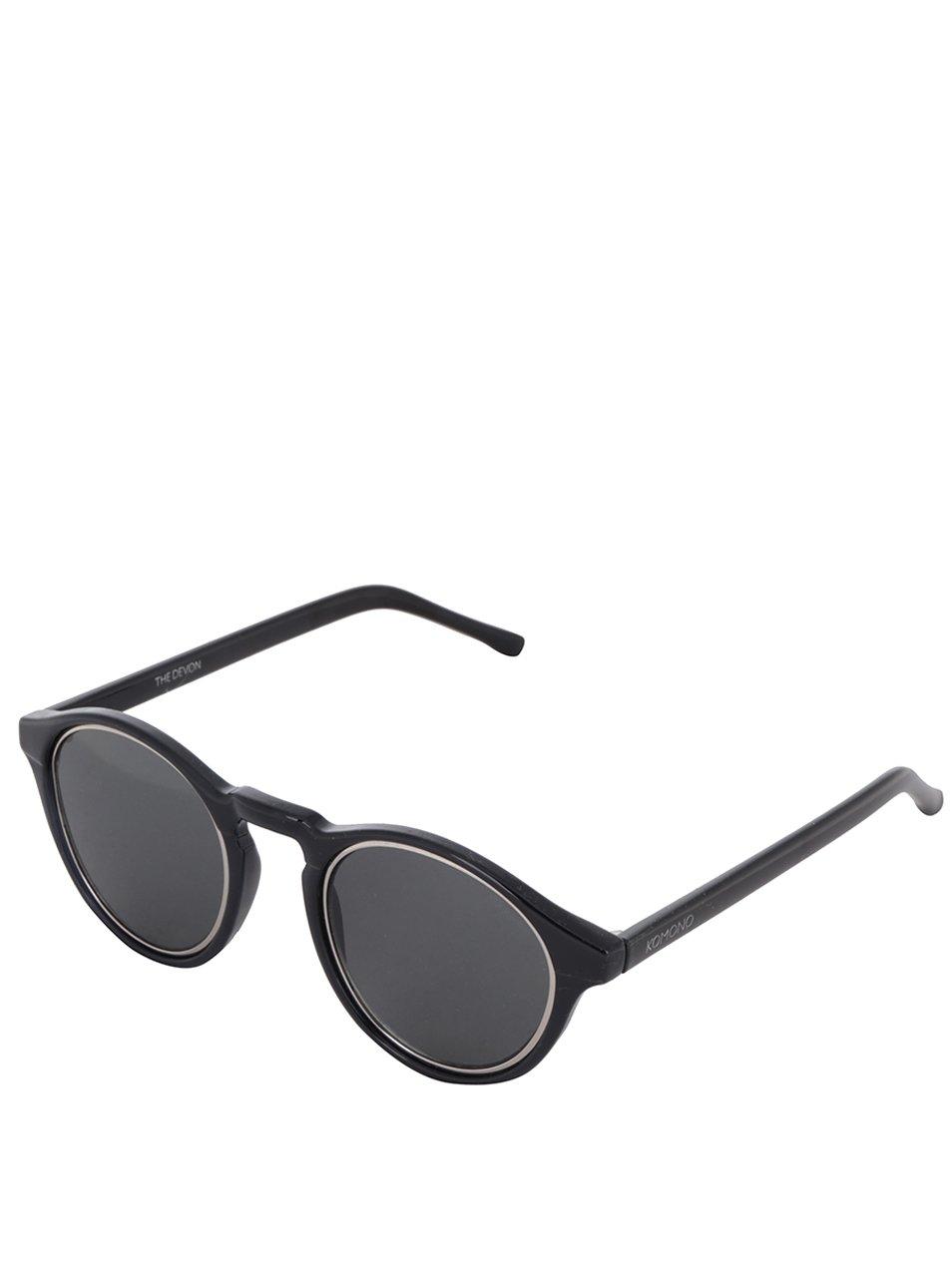 Černé unisex sluneční brýle Komono Devon Medina