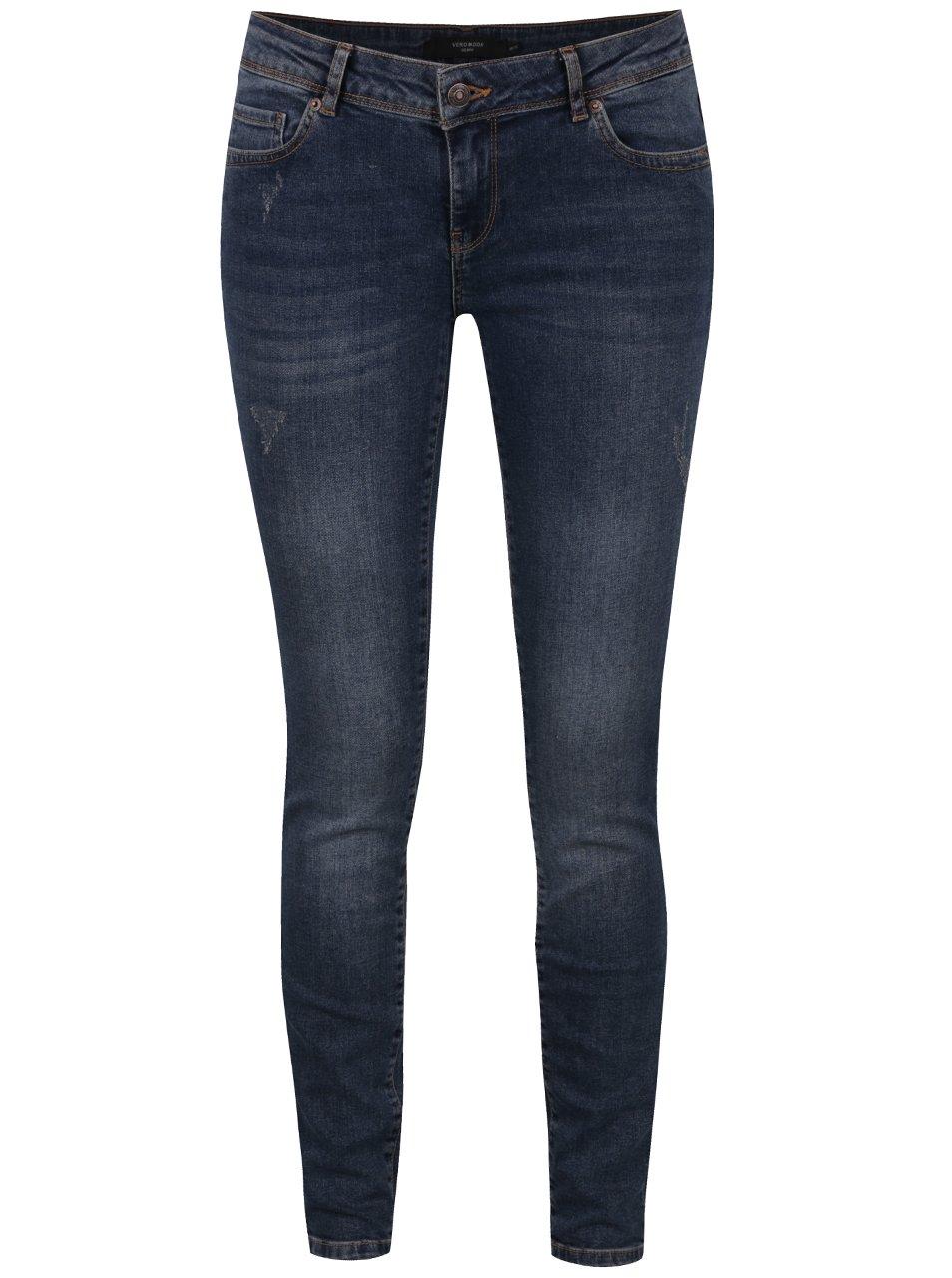 Modré skinny džíny Vero Moda Five