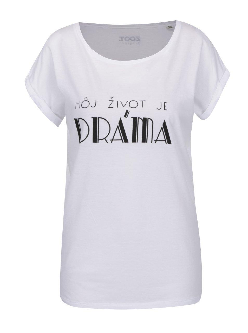 Bílé dámské tričko s krátkým rukávem ZOOT Originál Dráma