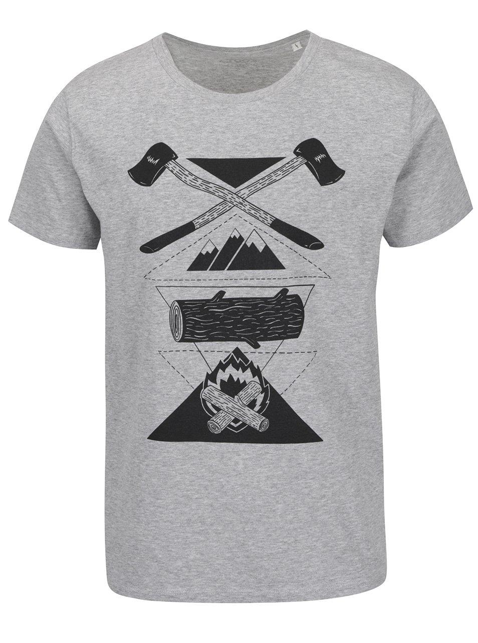 4c55ceaa07ba Sivé pánske triko s krátkym rukávom ZOOT Originál Sekyry