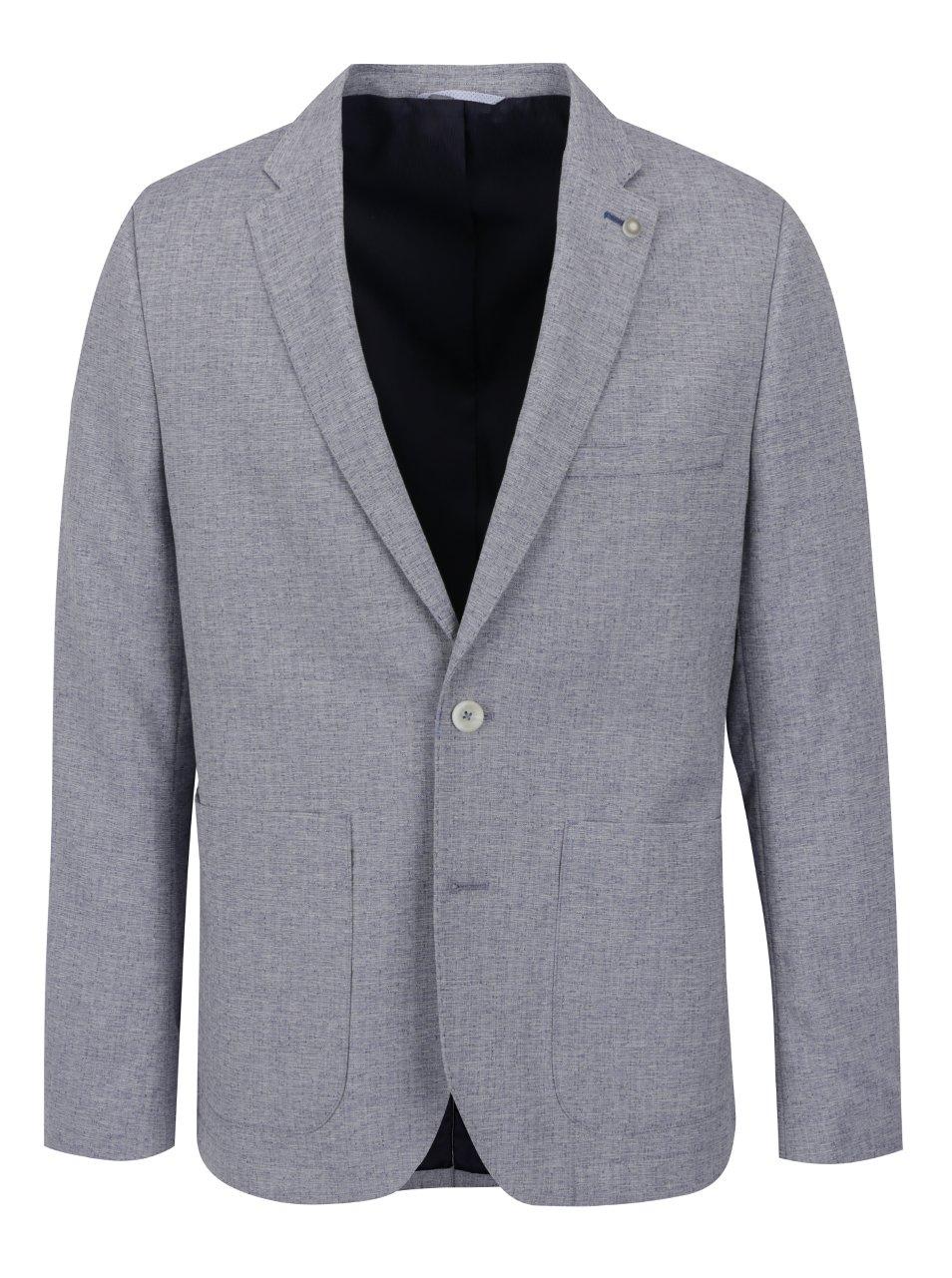 Světle modré žíhané sako Burton Menswear London