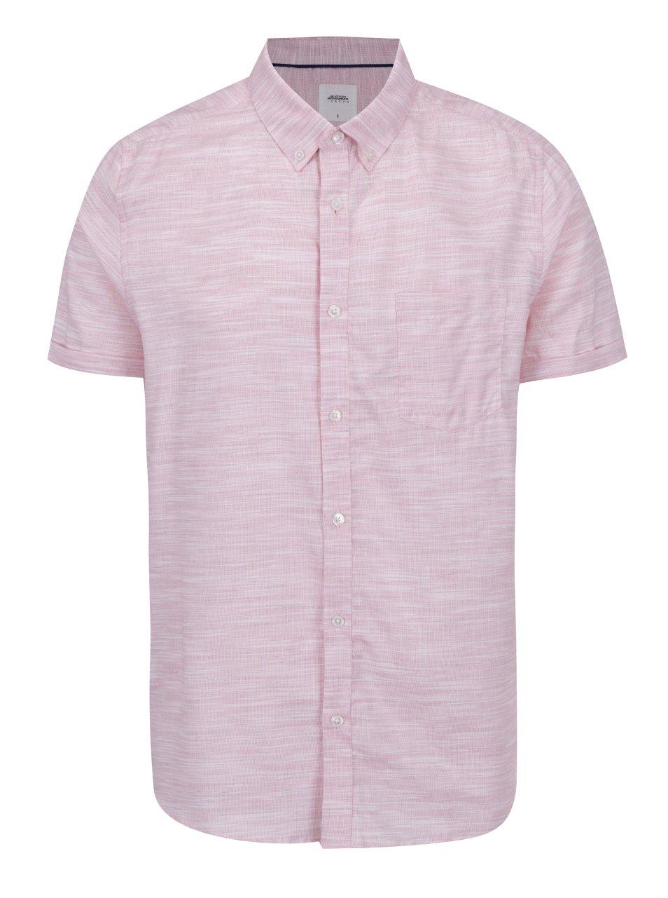 Růžová žíhaná košile Burton Menswear London