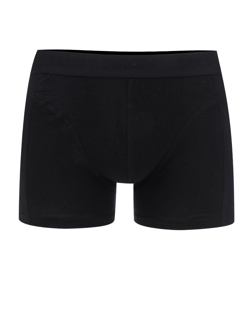 Černé boxerky Jack & Jones Simple