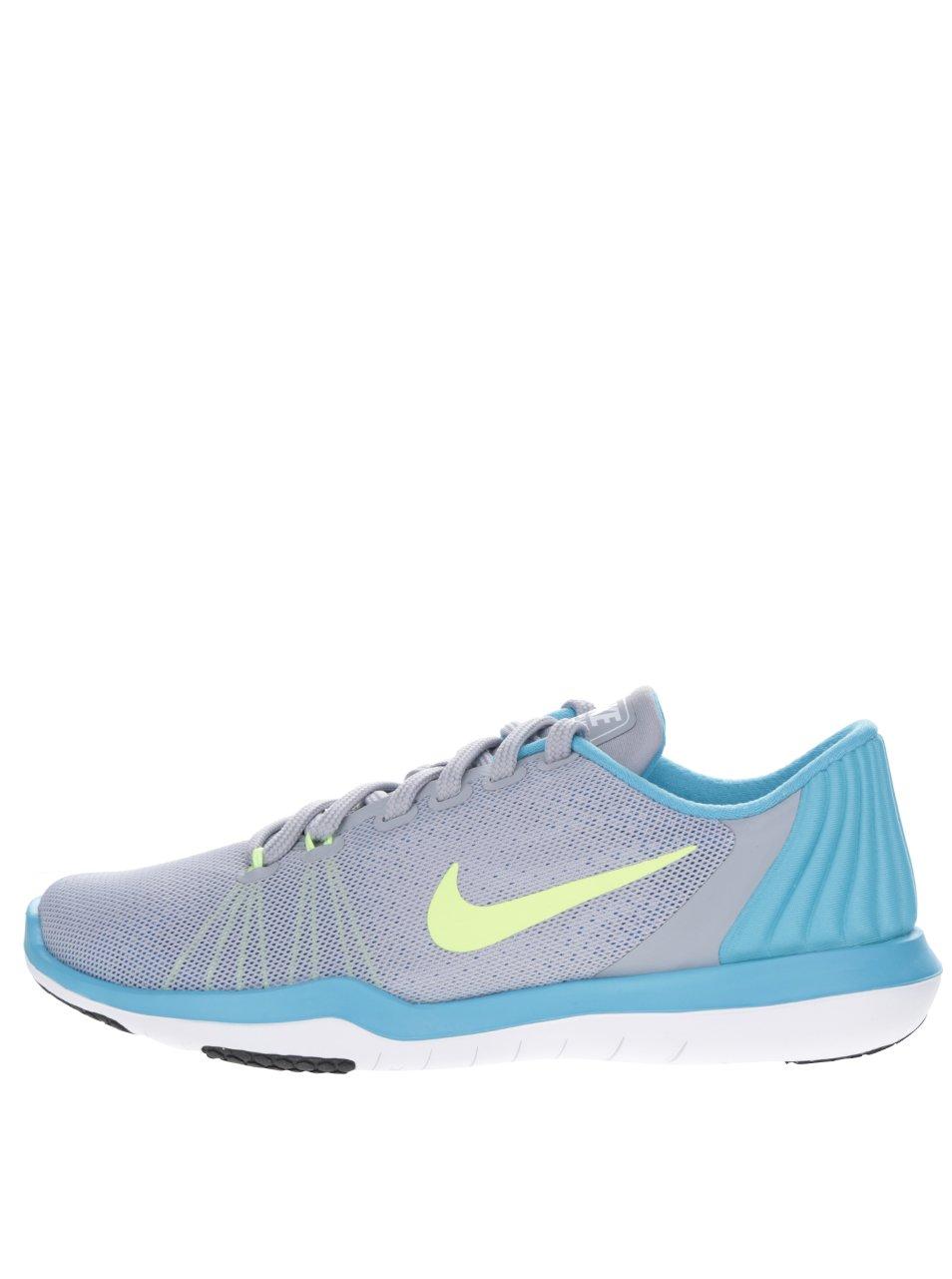Modro-šedé dámské tenisky Nike Flex Supreme