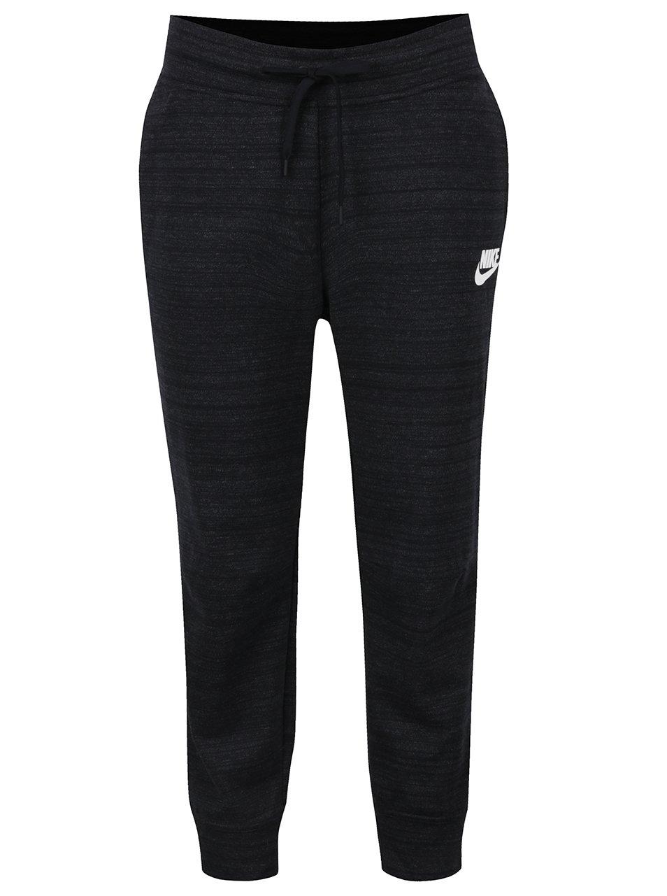 Černé dámské žíhané tepláky Nike Sportswear Advance 15