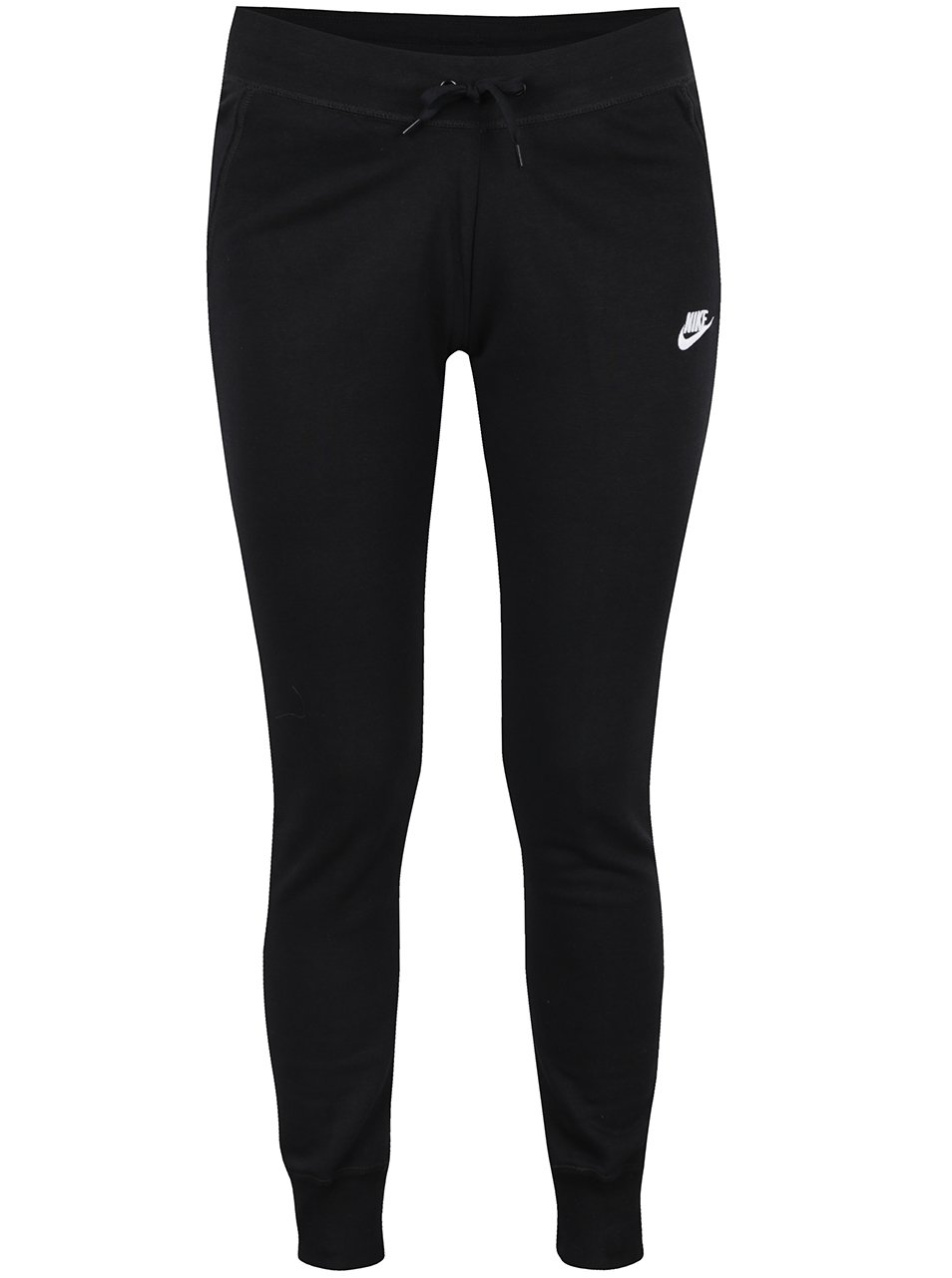 Černé dámské slim fit tepláky Nike