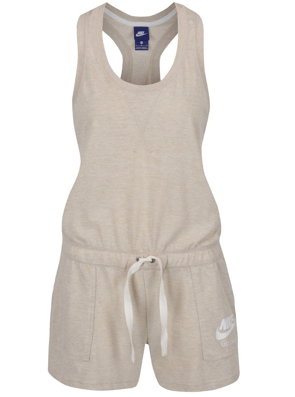 Béžový dámský krátký overal Nike