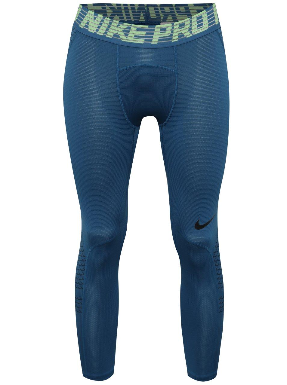 Modré pánské funkční 3/4 legíny Nike Pro HyberCool