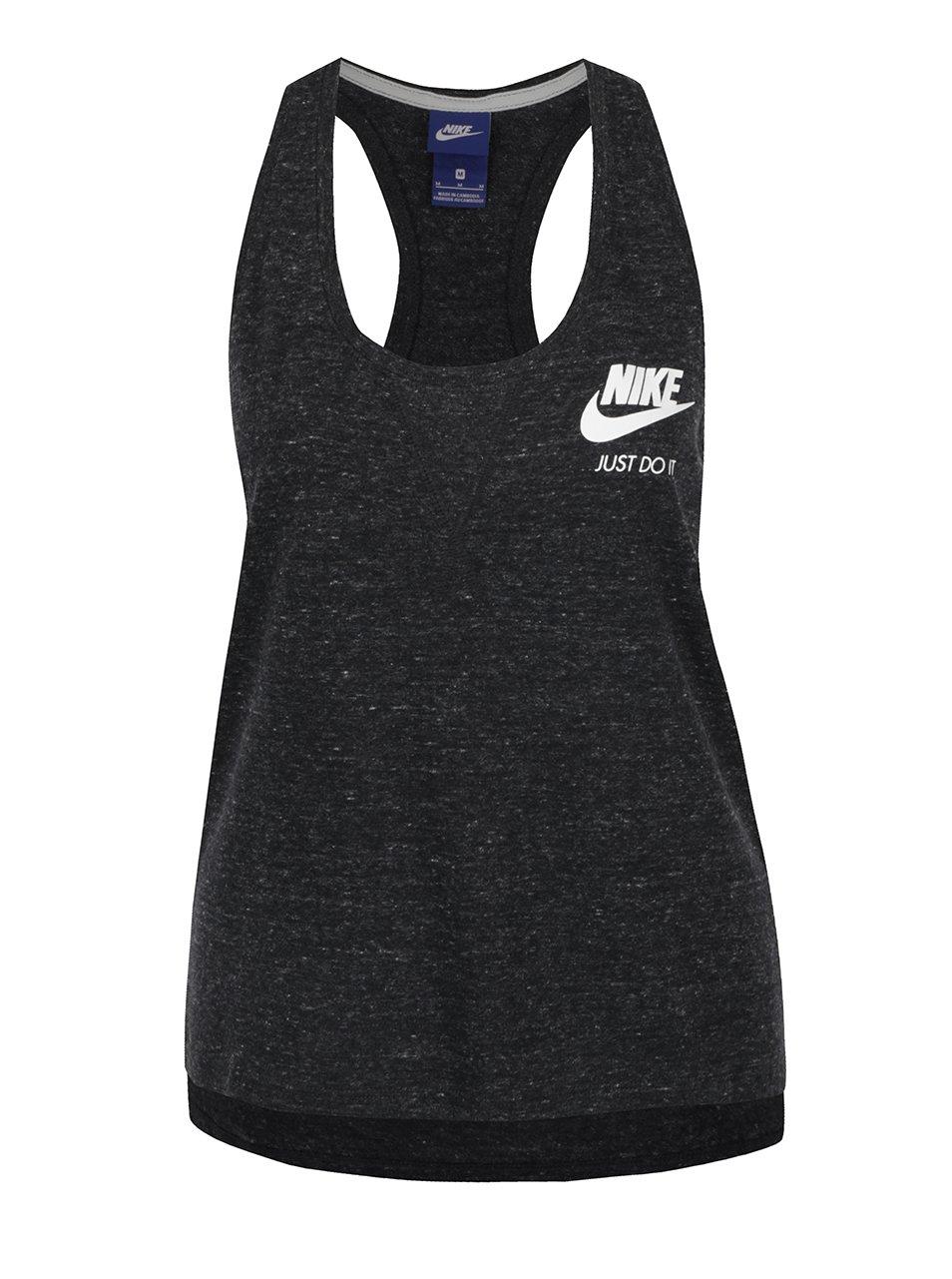 Černé dámské žíhané tílko Nike