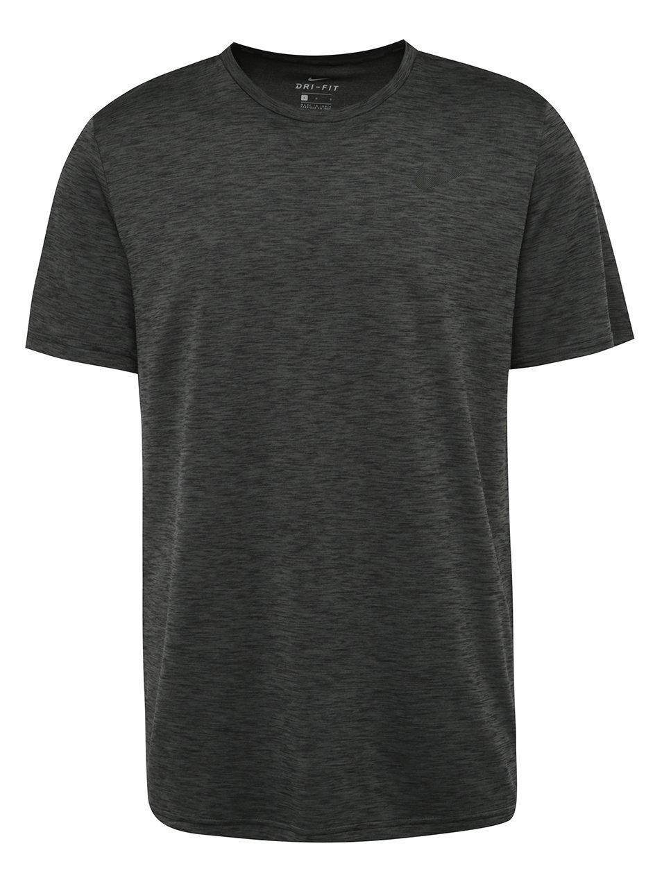 Tmavě šedé pánské funkční triko Nike Breathe