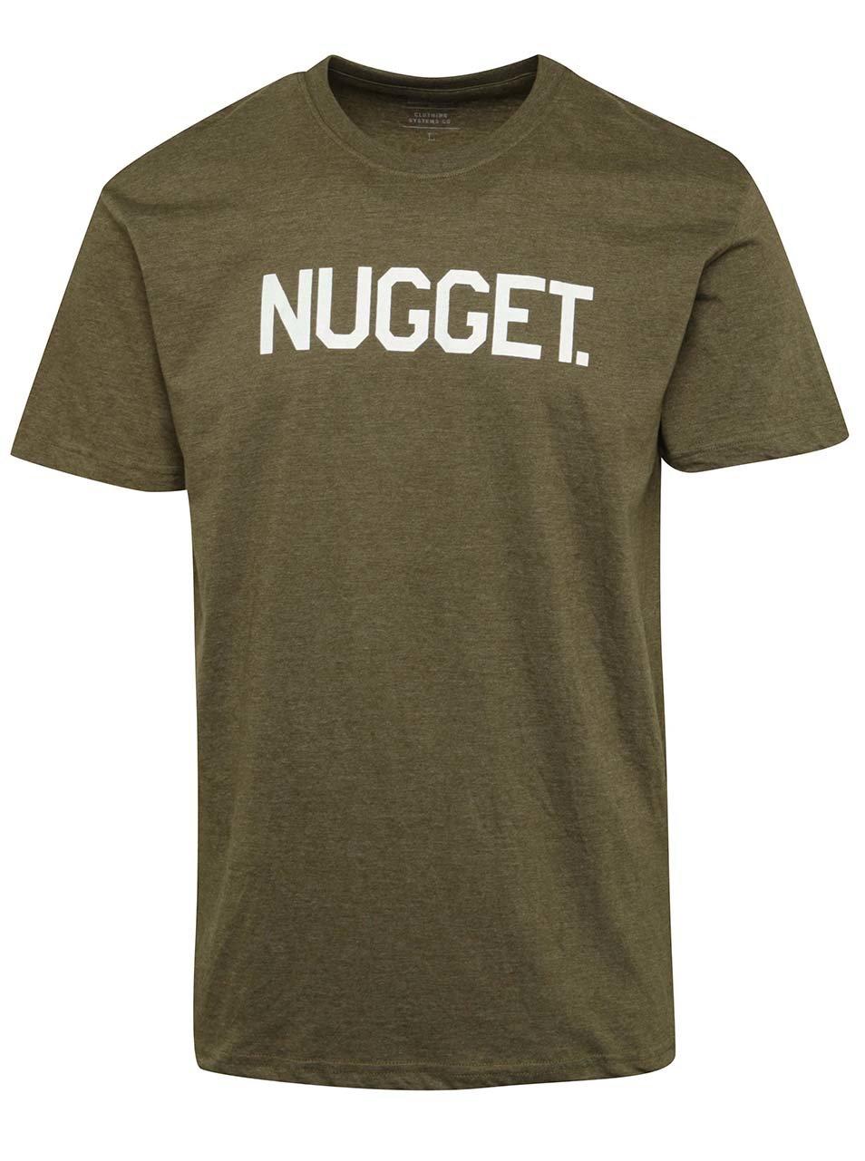 Khaki pánské triko s potiskem NUGGET Logo