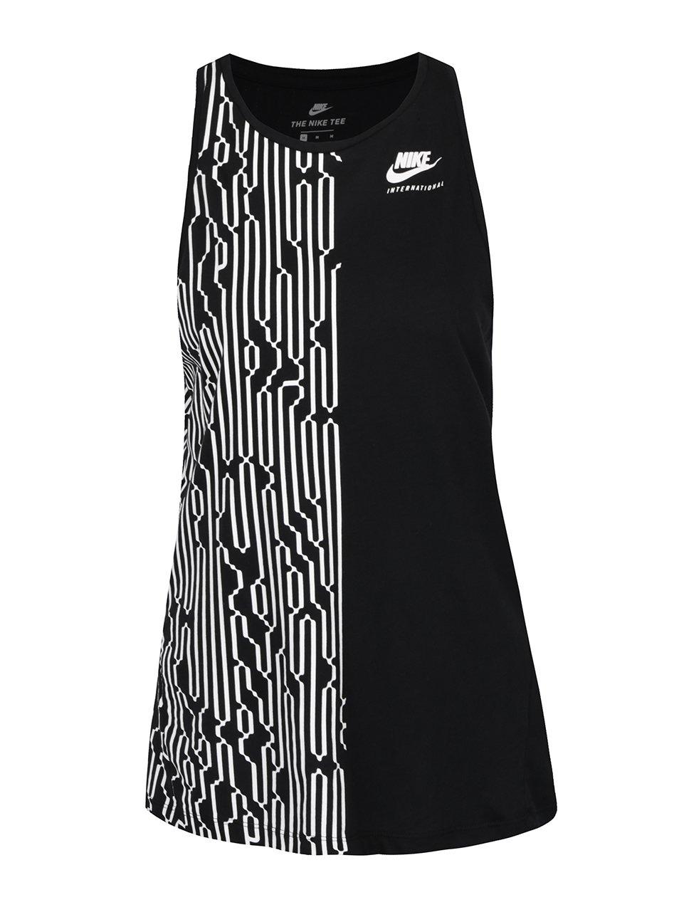 Černé dámské vzorované tílko Nike