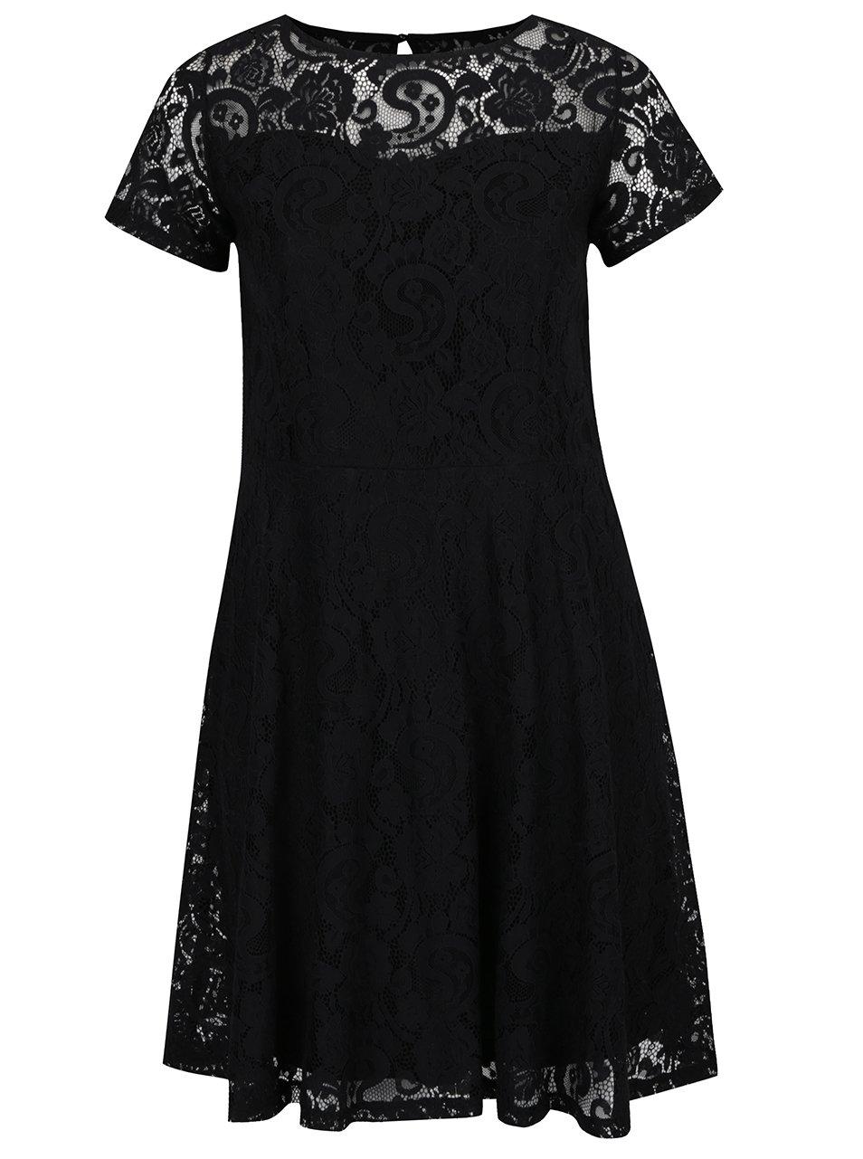 Černé krajkové šaty Dorothy Perkins Curve