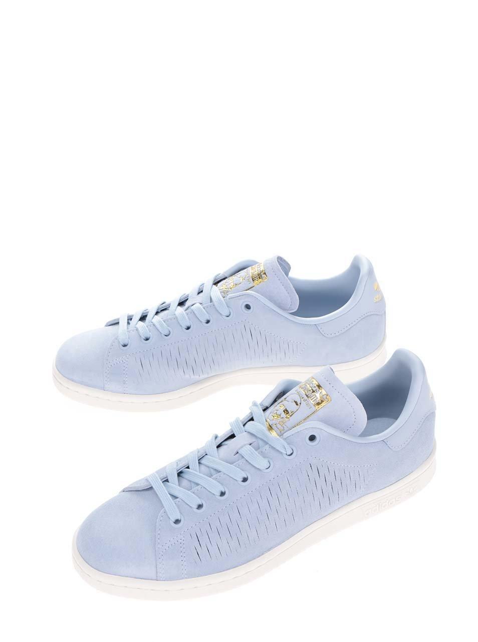 d05701a5f28 Světle modré dámské tenisky adidas Originals Stan Smith - eleganter.cz