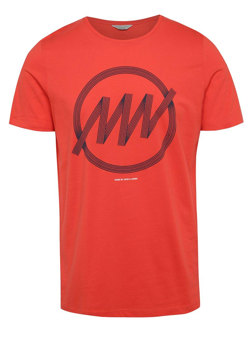 Červené triko s potiskem Jack & Jones Cologo