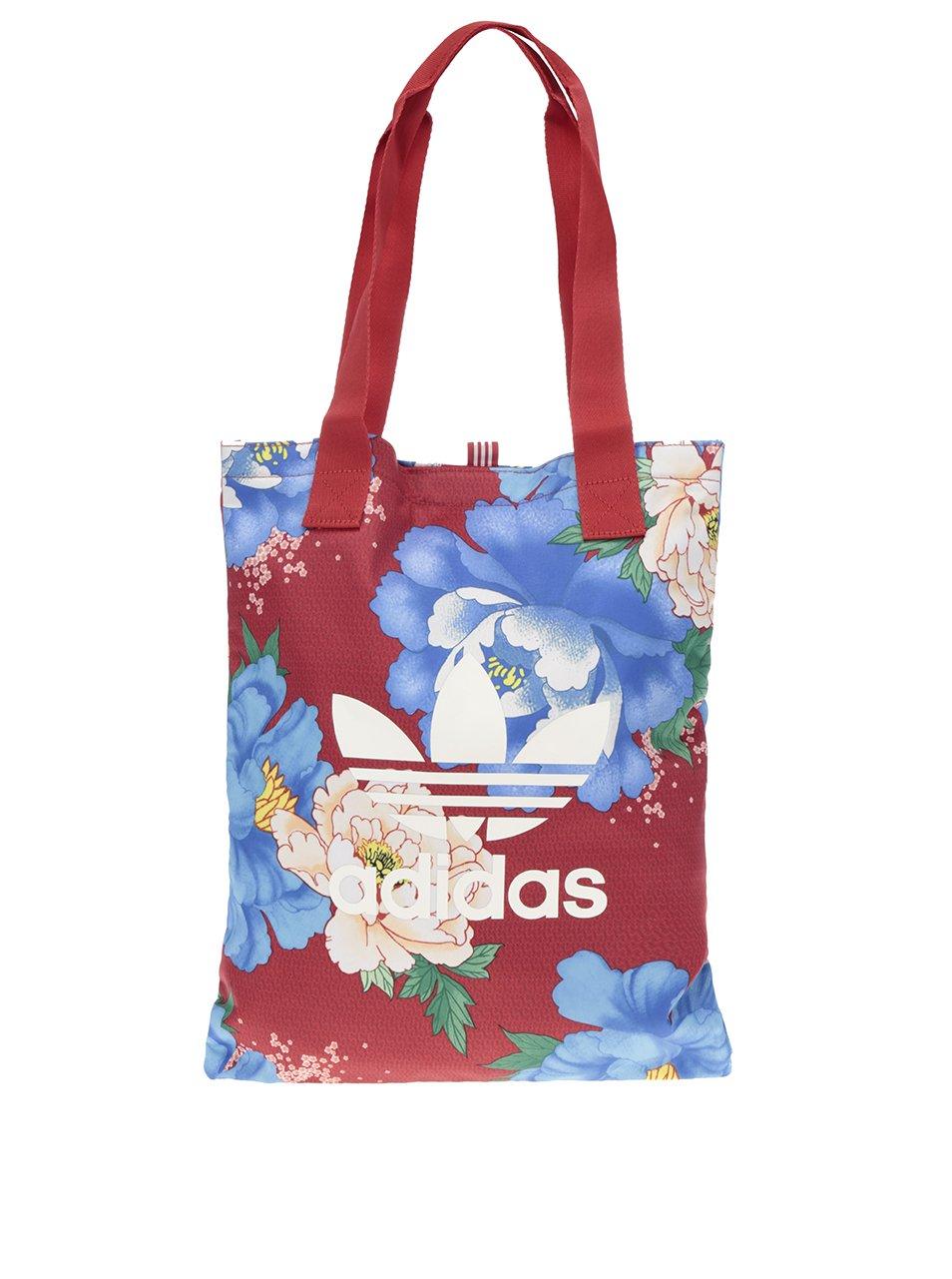 Červená dámská květovaná taška adidas Originals