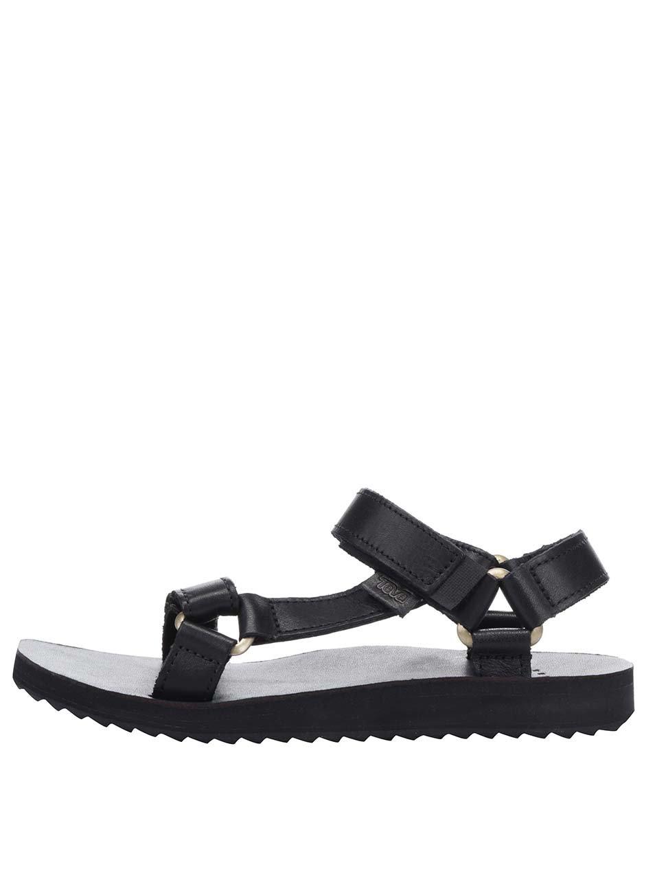 Černé dámské kožené sandály Teva e20b4b7fe3